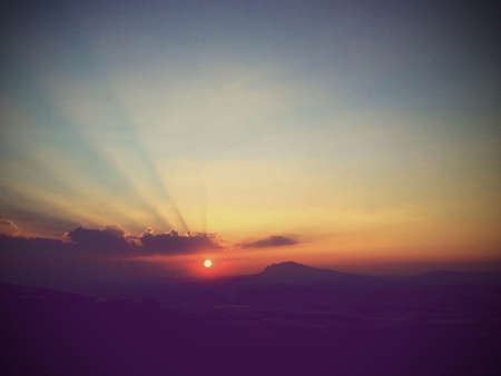 Summer sunset in Italy