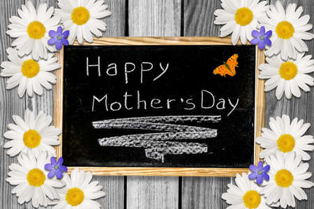 Beautiful gift for Mother with customizable blackboard with butterfly Stock Photo