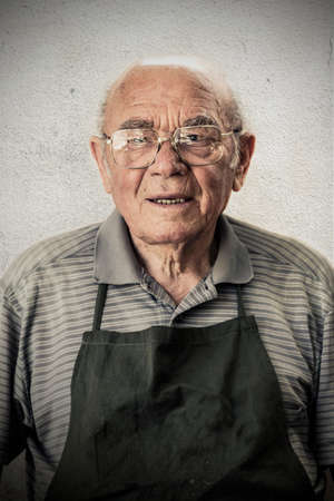 Portrait of an old shoemaker, Business Collection