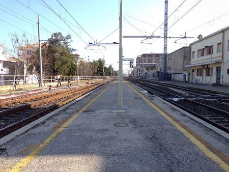 View of Italian railway station