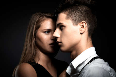 Portrait of young beauty couple Stock Photo