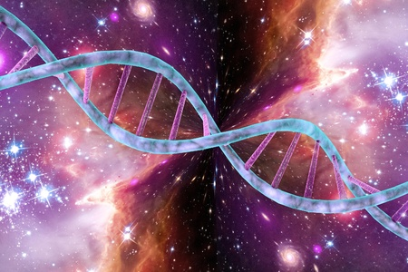dna double helix: DNA, double helix of DNA, DNA chains on space background, scientific background. Elements of this image furnished by NASA Stock Photo