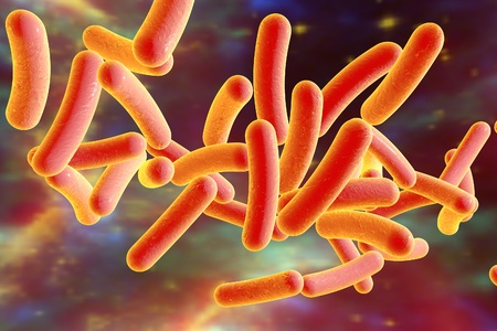 surrealistic: Bacterium Legionella pneumophila on surrealistic space background, model of bacteria, microbes, microorganisms, bacterium causes Legionnaires disease. Elements of this image furnished by NASA