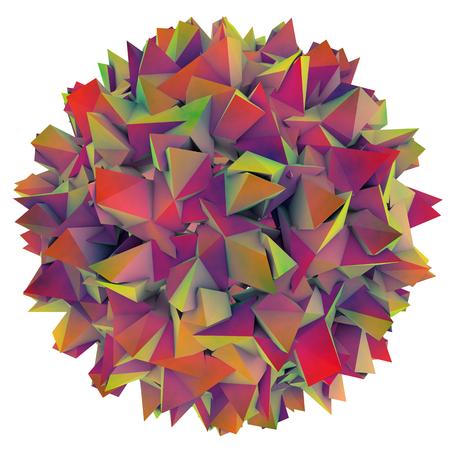 Low-polygonal model of virus. Hepatitis B virus. 3D illustration