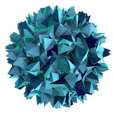 hepatitis b: Low-polygonal model of virus. Hepatitis B virus. 3D illustration