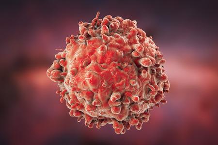leucemia: Leucemia de células blancas de la sangre en el fondo con las células, la ilustración 3D
