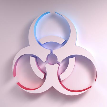 biological hazards: Three-dimentional Biohazard symbol. Biological danger symbol. 3D illustration