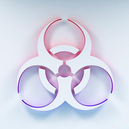 biohazard symbol: Three-dimentional Biohazard symbol. Biological danger symbol. 3D illustration