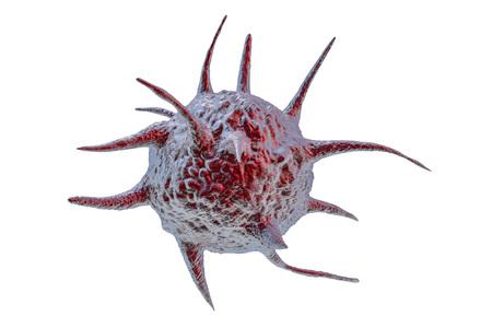 Parasite, pathogenic microbe isolated on white background. 3D illustration