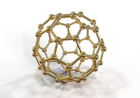 3D illustration of nanoparticle on white background, close-up vew