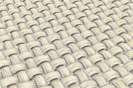 Fabric texture, close-up view showing fabric fibers, 3D illustration