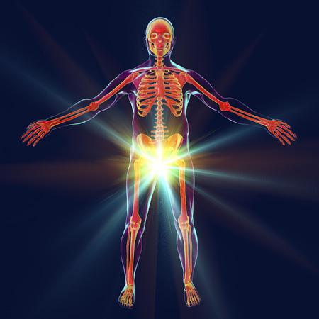 Man erectile disfunction treatment concept, 3D illustration