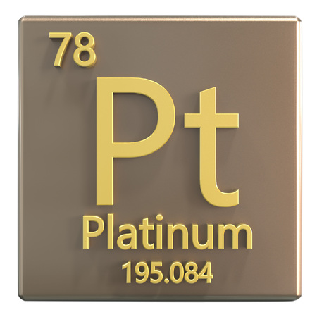 Platinum Transition Metals Chemical Element Of Mendeleevs Stock