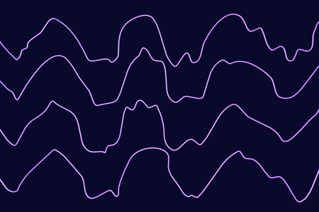 EEG Electroencephalogram, brain wave in deep sleep, 3D illustration Stock Photo