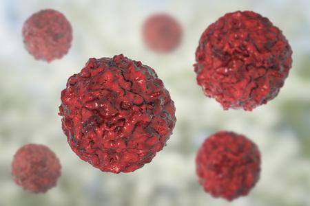 Stem cells on colorful background, 3D illustration Zdjęcie Seryjne