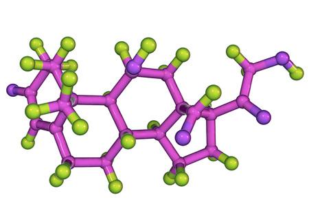 Molecule of aldosterone hormone, 3D illustration. It is mineralocorticoid hormone produced by adrenal gland Reklamní fotografie