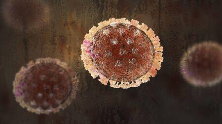 Influenza virus, flu virus, medically accurate 3D illustration