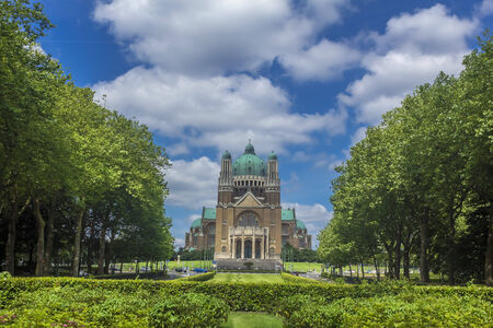 elisabeth: Basilica of the Sacred Heart and Parc Elisabeth in Brussels, Belgium Stock Photo