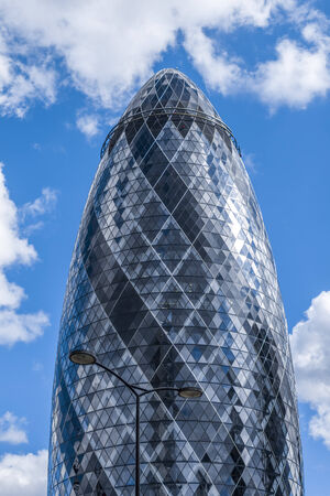 The Gherkin skyscraper building at London England, United Kingdom Editorial