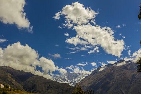 salkantay: Salkantay snowcapped peak at Cuzco Peru