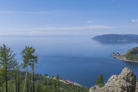 listvyanka: Baikal Lake panorama at Russia