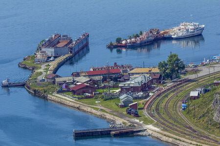 listvyanka: Baikal port at Lake Baikal, Irkutsk Russia