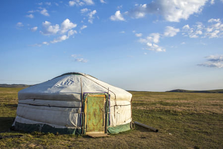 nomad: Mongolian Ger in the steppe Mongolia, Asia