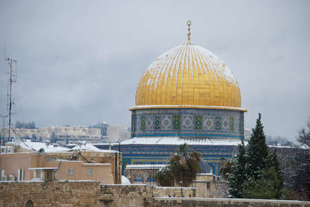 Jerusalem under the snow photo