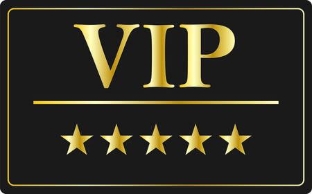 members: VIP membership card gold credit card Illustration