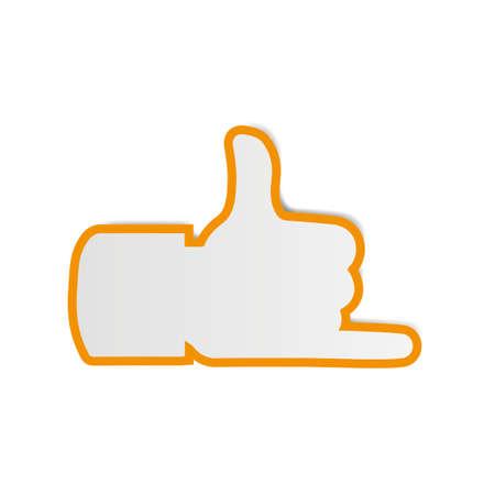 hang loose: Hand Thumbs Up sign Icon Hang Loose