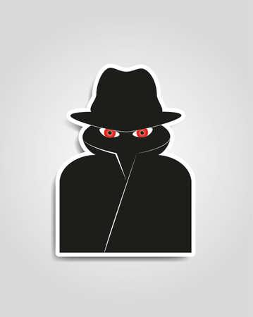 스파이 인터넷 보안 남자 일러스트