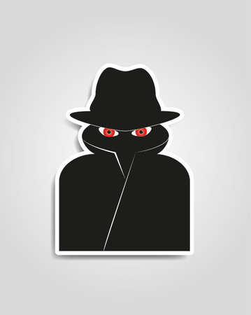 Spy internet security man 向量圖像