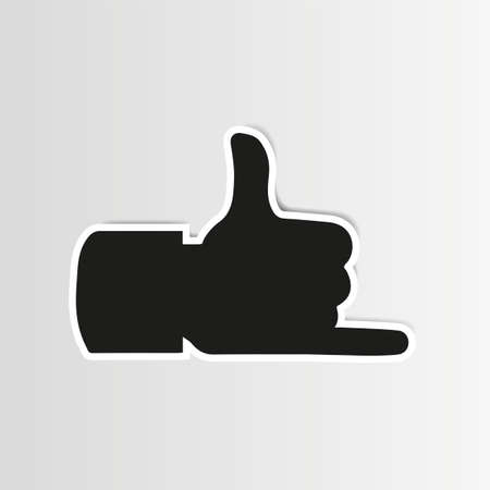 Hang Loose Hand Thumbs Up 版權商用圖片 - 22439329