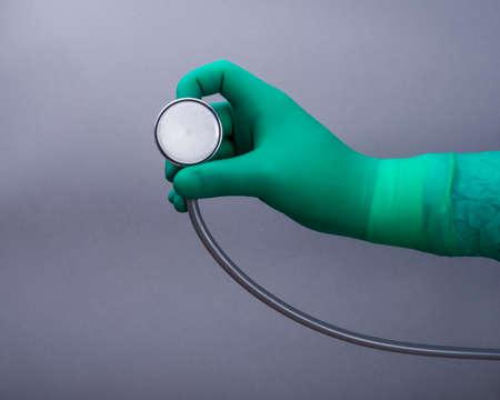 medical hand stethoscop photo