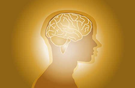 현대적인 디자인의 의료 뇌 벽지 스톡 콘텐츠