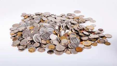 A coin pile of Swiss francs Reklamní fotografie