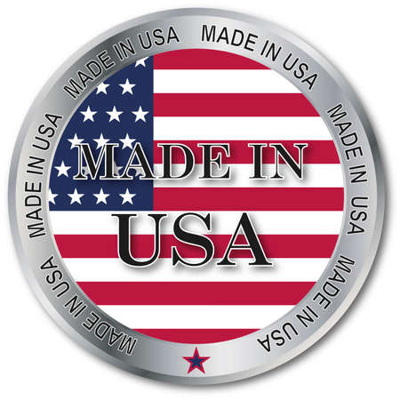 steel industry: usa made button