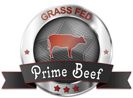 grass fed prime beef icon