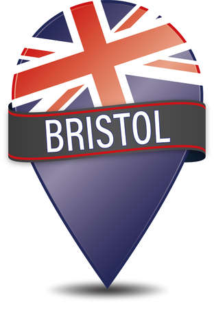 Glossy Bristol navigation pin icon