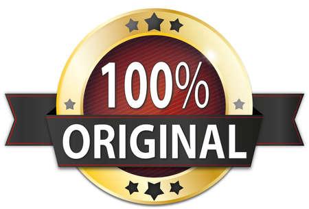 insigne de sceau rond métallique sur fond blanc Banque d'images