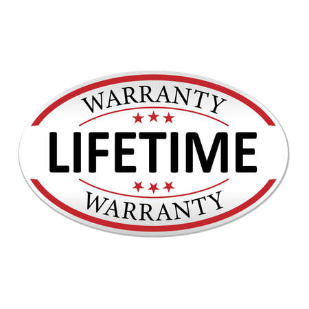 modern lifetime warranty paper web badge