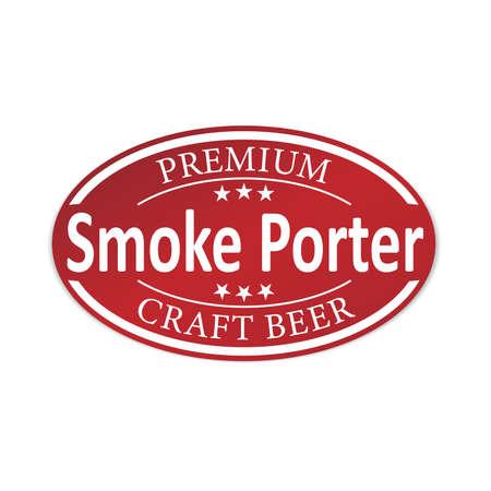 smoke porter beer lable web badge icon
