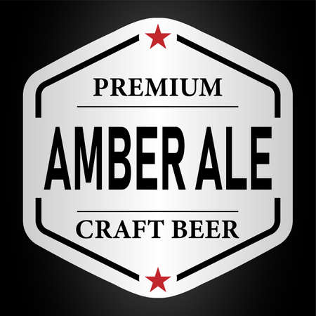 premium amber ale craft beer beer lable web badge icon