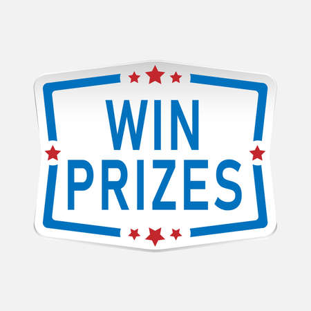 win prizes paper web badge   icon with stars