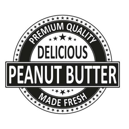 timbre d'insigne frais délicieux de qualité supérieure sur blanc Vecteurs