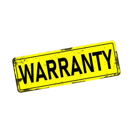 warranty web dirty rusty metal icon plate sign