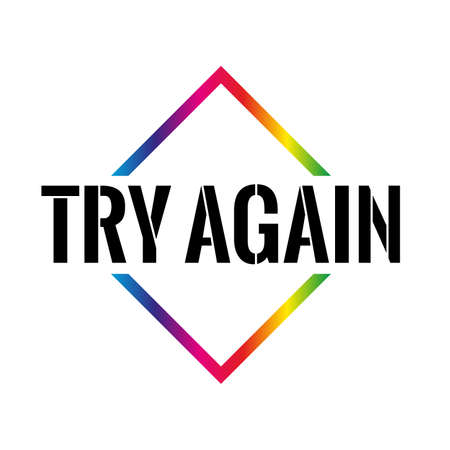 Triangle or pyramid try again line art vector icon