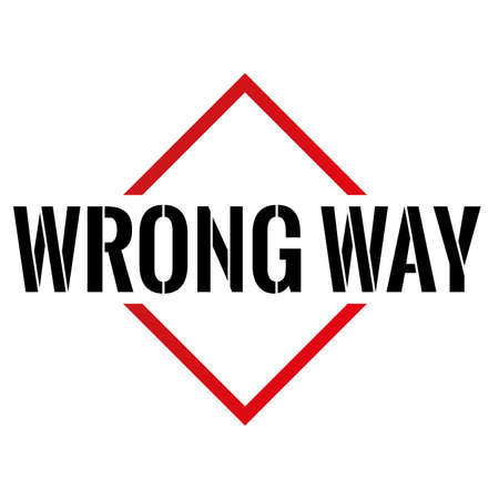 Triangle or pyramid wrong way line art vector icon