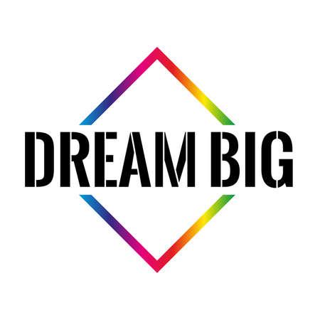 big dream Triangle or pyramid line art vector icon Illustration