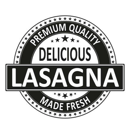 Vintage Italian Cuisine Restaurant Stamp on white background